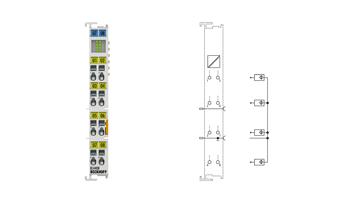 KL4408 | Bus Terminal, 8-channel analog output, voltage, 0…10V, 12bit, single-ended