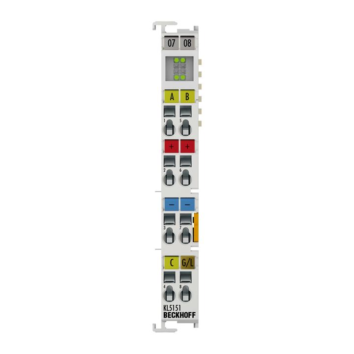 KL5151 | Bus Terminal, 1-channel encoder interface, incremental, 24VDCHTL, 100kHz