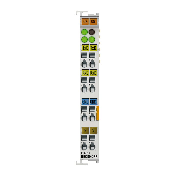 KL6051   Bus Terminal, 1-channel communication interface, serial, 62.5kBaud
