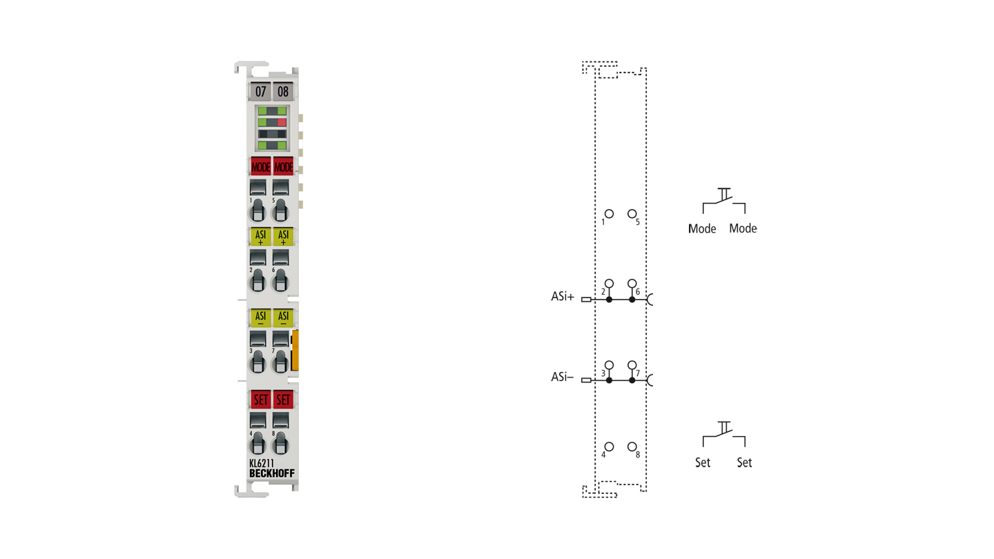 KL6211 | Bus Terminal, 1-channel communication interface, ASi, master