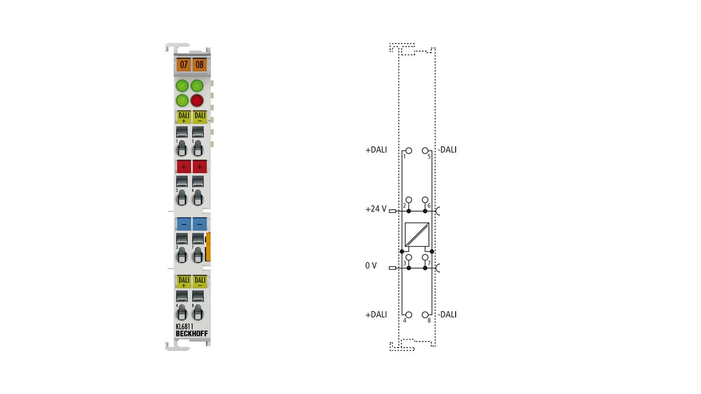 KL6811 | DALI/DSI-Master- und Netzteilklemme