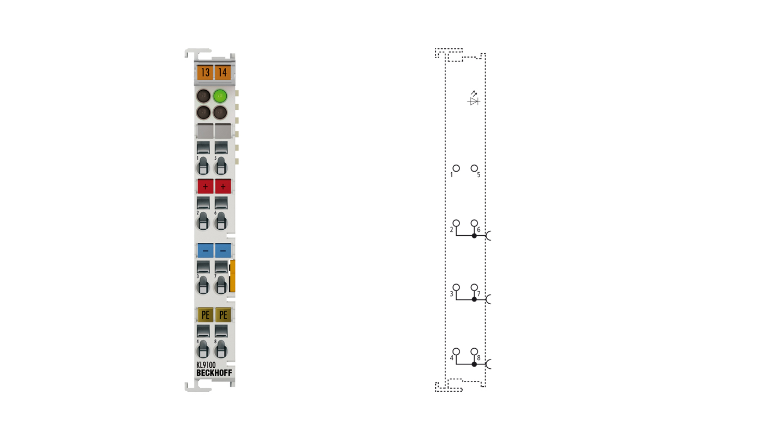 KL9100 | Potential supply terminal, 24 V DC