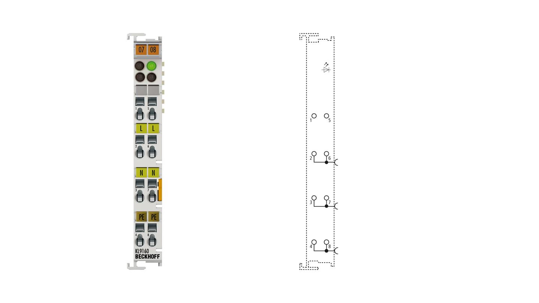 KL9160 | Potential supply terminal, 120…230 V AC, with diagnostics