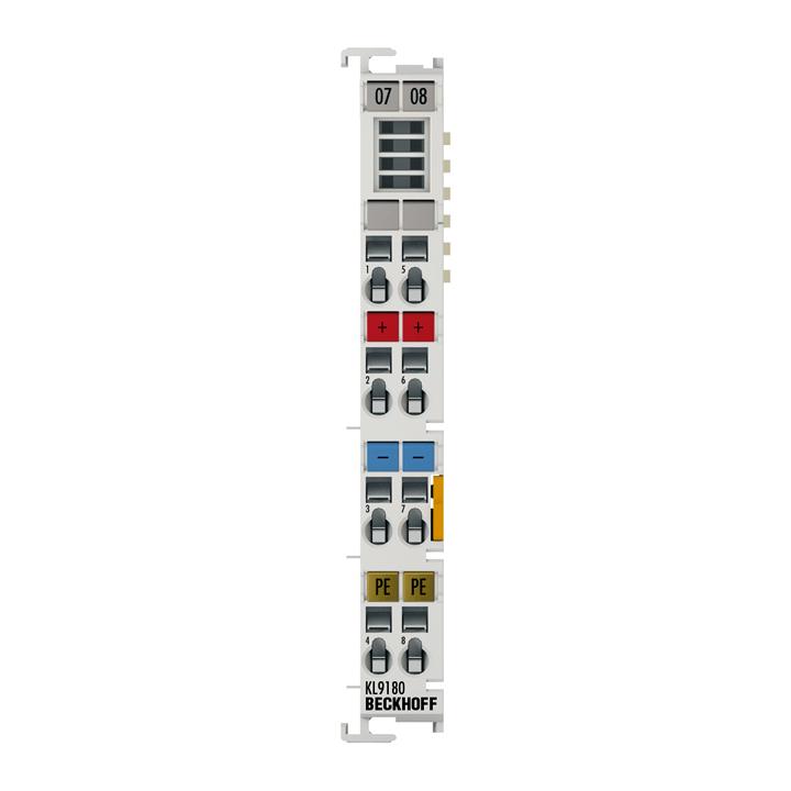 KL9180 | Potenzialverteilungsklemme, 2x 24VDC; 2x 0VDC, 2x PE