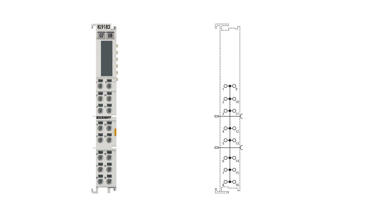 KL9183 | Potential distribution terminal, 16 x 1 potential