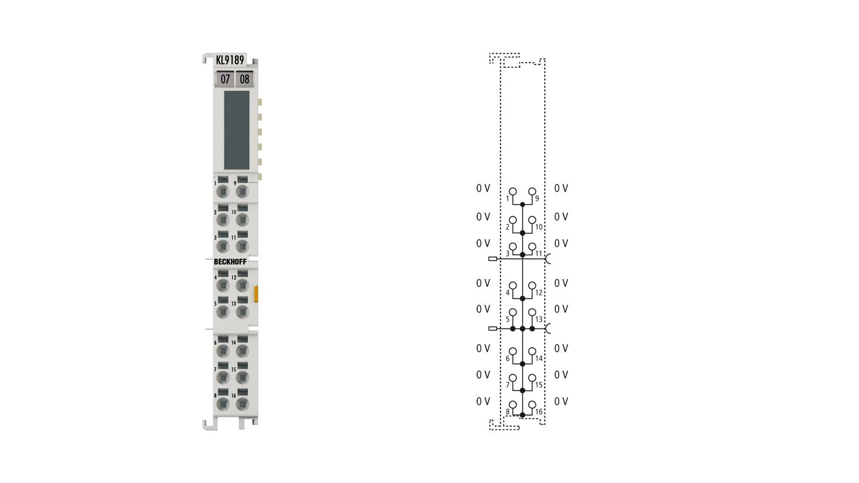 KL9189 | Potential distribution terminal, 16x 0VDC
