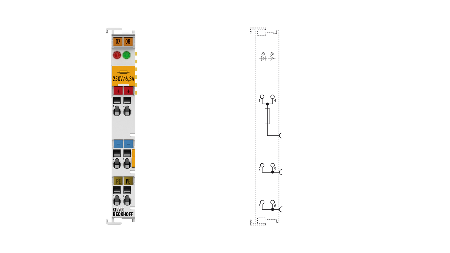 KL9200 | Potential supply terminal, 24 V DC, with fuse