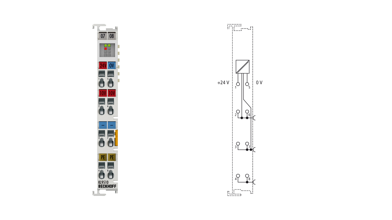KL9510 | Power supply terminal 10 V DC