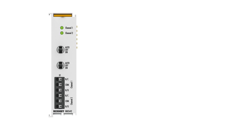 KM2642 | 2-Kanal-Relaismodul 230 V AC, 6 A, Hand-/Automatikbedienung
