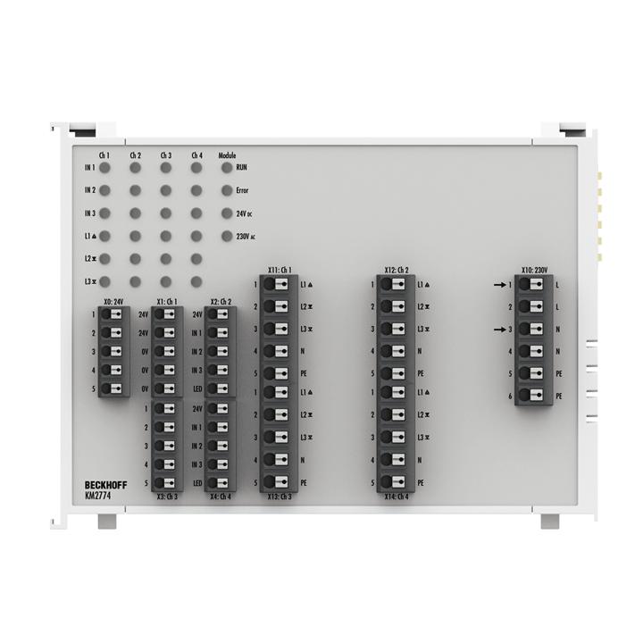 KM2774 | Bus Terminal module, 4-channel triac output, 80…230VAC, 1.5A
