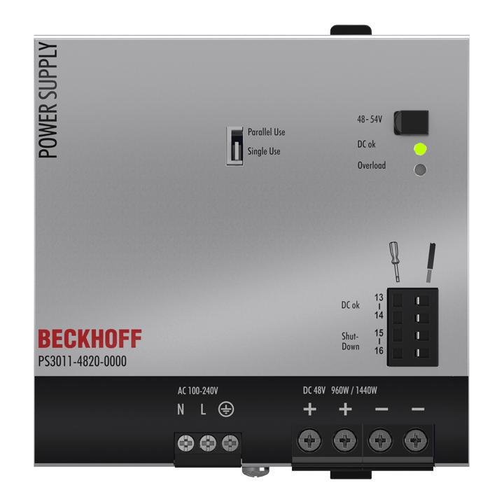 PS3011-4820-0000 | Stromversorgung PS3000; Ausgang: 48VDC, 20A; Eingang: AC100…240V, 1-phasig
